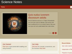 Screenshot - Annotum Sans